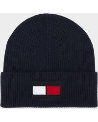 b0eb34ae990 Lyst - Tommy Hilfiger Logo Beanie Hat Grey One in Gray for Men