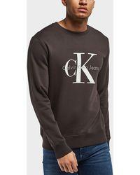 Calvin Klein | Large Icon Logo Crew Sweatshirt | Lyst