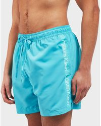 Calvin Klein - Side Logo Swim Shorts - Lyst