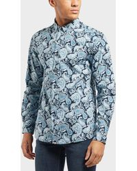Pretty Green - Jessop Paisley Print Long Sleeve T-shirt - Lyst