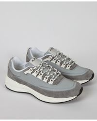 A.P.C. - Grey Techno Homme Trainer - Lyst