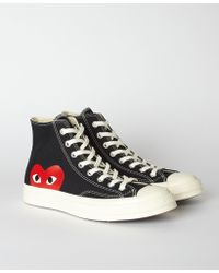 COMME DES GARÇONS PLAY - Black Play X Converse 70s Chuck Taylor All Star High - Lyst