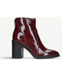 Kurt Geiger - Sly Patent Leather Ankle Boots - Lyst