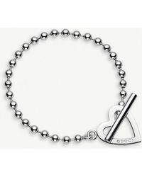 Gucci - Toggle Heart Loose Link Bracelet - Lyst