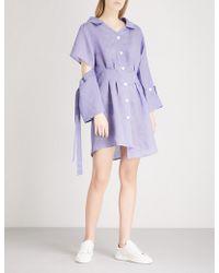 SJYP - Asymmetric Woven Dress - Lyst