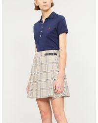 Polo Ralph Lauren - Logo-embroidered Stretch-cotton-piqué Polo Top - Lyst