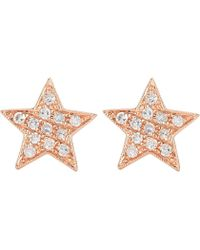 The Alkemistry - Julianna Himiko 14ct Rose-gold And Diamond Earrings - Lyst
