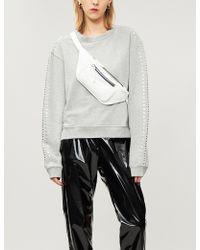 The Kooples - Stud-embellished Cotton Sweatshirt - Lyst