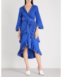 Alexis - Hallie Pleated-trim Cotton Dress - Lyst