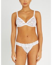 Cosabella - Never Say Never Dreamie Triangle Lace Bralette - Lyst