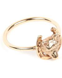 Annina Vogel - 9 Carat Gold Fox And Horseshoe Ring - Lyst