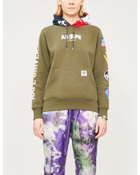 Aape - Logo-patch Printed Cotton-blend Hoody - Lyst