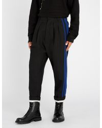 Haider Ackermann - Calder Striped-side Regular-fit Wool Trousers - Lyst