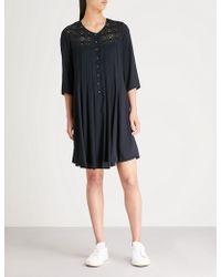 Claudie Pierlot - Rosie Pleated Woven Dress - Lyst