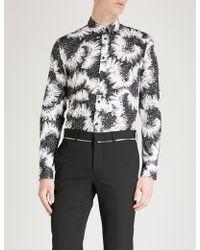 Givenchy - Floral-print Slim-fit Cotton Shirt - Lyst