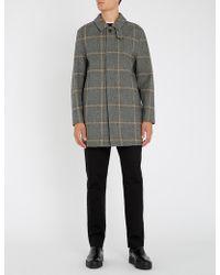 Mackintosh - Longline Checked Wool Coat - Lyst