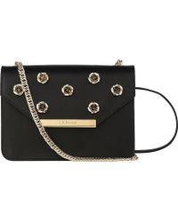 L.K.Bennett - Karla Rose-detail Leather Shoulder Bag - Lyst