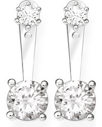Thomas Sabo - Glam & Soul Sterling Silver And White Zirconia Earrings - Lyst