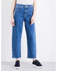 Whistles | High-rise Barrel-leg Stretch-denim Jeans | Lyst