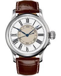 Longines - L2.713.4.11.2 Weems Second Setting Watch - Lyst