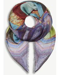 Mary Katrantzou - Sequin Stripe Cashmere-blend Scarf - Lyst