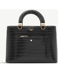 Dune - Denicee Crocodile-embossed Tote - Lyst