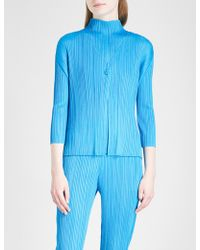 Pleats Please Issey Miyake - Buttoned Pleated Jacket - Lyst