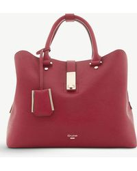 Dune - Red Diella Faux Leather Shopper Handbag - Lyst