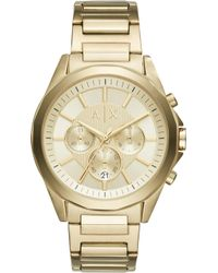 Armani Exchange - Ax2602 Gold-plated Stainless Steel Watch - Lyst