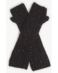 Zadig & Voltaire - Diana Coa Cotton-blend Gloves - Lyst