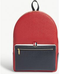 Thom Browne - Colourblock Pebbled Leather Backpack - Lyst