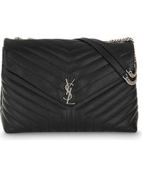 Saint Laurent - Monogram Extra-large Quilted Leather Shoulder Bag - Lyst