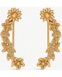 Olivia Burton - Bee Bloom 18ct Gold-plated Floral And Bee Crawler Earrings - Lyst