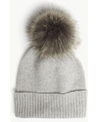 Helen Moore - Pom-pom Cashmere Beanie Hat - Lyst