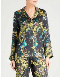 Meng - Floral-print Silk-satin Pyjama Top - Lyst
