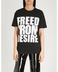 Gareth Pugh - Freed From Desire Print Cotton-jersey T-shirt - Lyst
