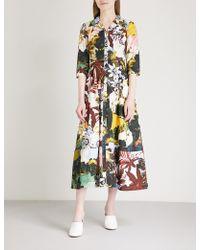 Erdem - Kasia Floral-print Cotton-poplin Dress - Lyst