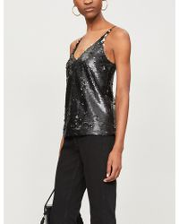J Brand - Ladies Black Future Lucy Sequinned Camisole Top - Lyst