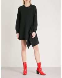 Mo&co. - Asymmetric-hem Cotton-jersey Sweatshirt Dress - Lyst