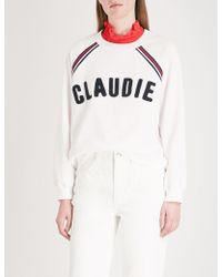 Claudie Pierlot - Logo-embroidered Cotton-blend Sweatshirt - Lyst