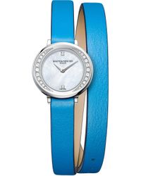 Baume & Mercier - 10288 Petite Promesse Leather And Diamond Watch - Lyst