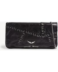Zadig & Voltaire - Staple Leather Clutch - Lyst