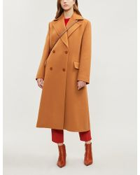 ROKSANDA - Two-tone Belted Wool And Cashmere-blend Coat - Lyst