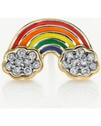 The Alkemistry - Sydney Evan 14ct Yellow Gold And Diamond Rainbow Stud Earring - Lyst