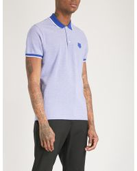 KENZO - Tiger-badge Cotton-piqué Polo Shirt - Lyst