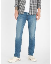 PAIGE - Federal Slim-fit Jeans - Lyst