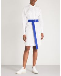 Mo&co. - Belted Cotton Shirt Dress - Lyst
