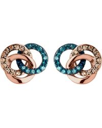 Links of London - Treasured 18ct Rose-gold Vermeil And Diamond Stud Earrings - Lyst