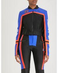 PUMA - Logo Side-stripe Neoprene Biker Jacket - Lyst