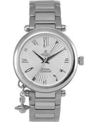 Vivienne Westwood | Vv006sl Orb Stainless Steel Watch | Lyst
